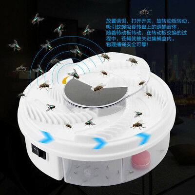 USB Electric Automatic Flycatcher Fly Trap Pest Reject Control Catcher Mosquito