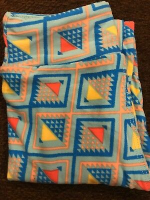 Kids lularoe leggings,sqaured patten- S/M-nwot-free shipping