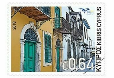 CYPRUS, Euromed 2018 - Houses of the Mediterranean STAMP, MNH, 2018