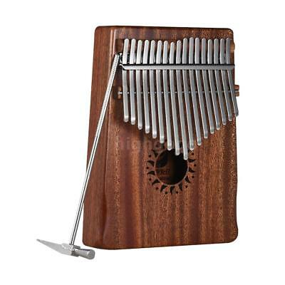 17-Key Portable Kalimba Mbira Thumb Piano Mahogany Solid Wood Musical S6C5