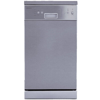 Domain 45cm DW45 Stainless Steel Freestanding Dishwasher 8 Place 45cm Slimline