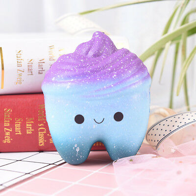 1pc stress relief toys galaxy tooth scented slow rising cute cartoon toy  X