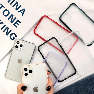 Translucent Matte Hybrid Phone Case Cover For iPhone 11 Pro Max XS XR X 8 7 Plus