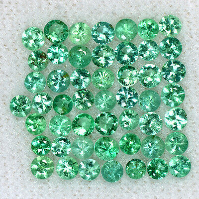 2.96 Cts Natural Top Emerald Loose Gemstone Diamond Round Cut 2.5 mm Lot Zambia