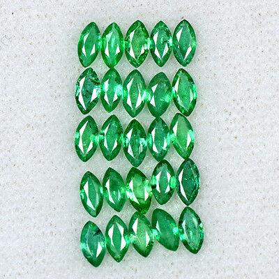 3.3 Cts Natural Emerald Loose Gemstone Fine Marquise Cut 25 Pcs 5x2.5 mm Zambia