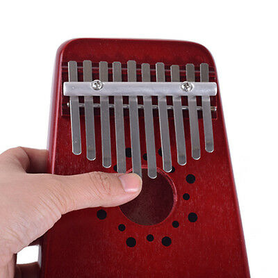 Clear sound Red 10 Key Kalimba Mbira Thumb Piano Traditional Music Instrument CS