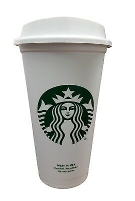 Starbucks Reusable Plastic Travel To Go Coffee Cup Free BPA(Grande Size 16 Oz)