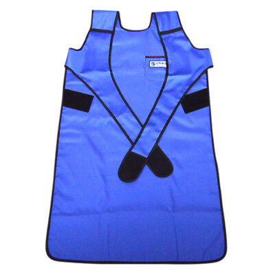 US SHIP Flexible X-Ray Protection Protective Lead Apron 0.35mmpb Blue hnm