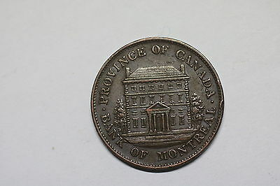 Canada Montreal Half Penny 1844 Nice Details A60 #k6327