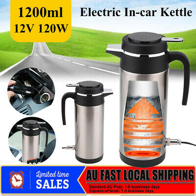 1.2L Portable In-Car Electric Kettle Stainless Steel Camping Insulation Cup 12V
