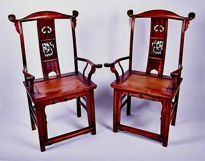 Spectacular Pair Of Vintage Old Chinese Throne Chairs...sold For Nurses Charity