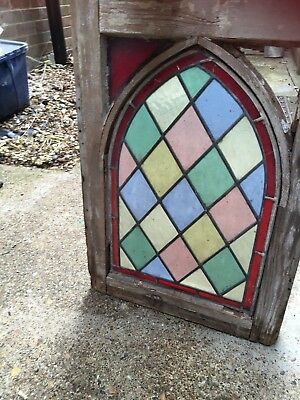 Victorian Leaded Stained Glass Arch Window Single
