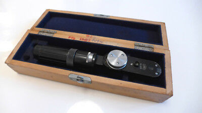 IOR vintage ophthalmoscope made in Romania, very rare, with wooden box