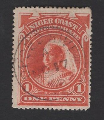 Niger Protectorate Queen Victoria 1894 1d XF SON used