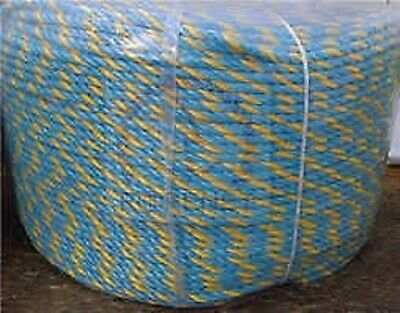 Quality Telstra Parramatta Rope 400m 6m Poly Marine Electrical Rope Yellow Blue