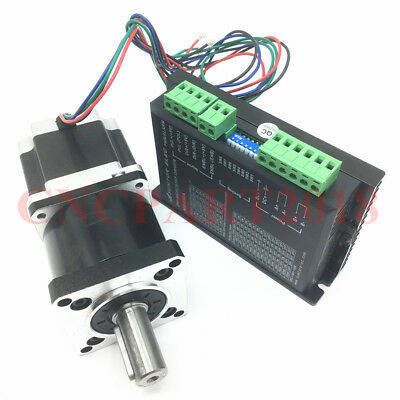 Nema23 Gear Stepper Motor 3A 55Nm Planetary Gearbox 50:1&Stepper Driver 4.2A Kit