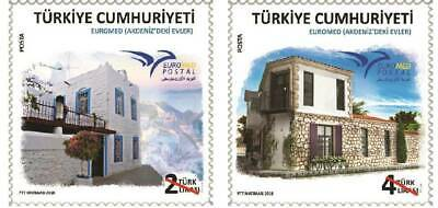 TURKEY, Euromed 2018 - Houses of the Mediterranean, MNH, 2018