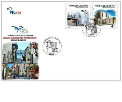 TURKEY, (FDC) Euromed 2018 - Houses of the Mediterranean, MNH, 2018