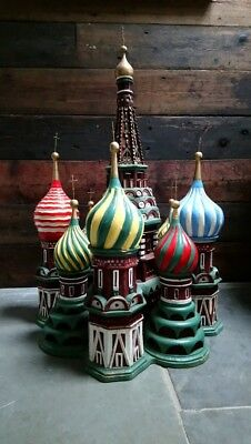 Unique Hand-Made Scratch-Built Model Of St Basil's Cathedral (seen at World Cup)