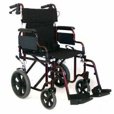 NEW Folding Deluxe Transit Wheelchair Home Health Care Equipment