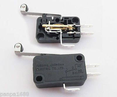 1pc Micro Switch High Roller Level Long Handle Normally Open/Close 15A 28x16mm