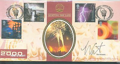Great Britain 2000 Fire and Light FDC signed by Tim Vincent
