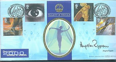 Great Britain 2000 Sound and Vision FDC signed by Angela Rippon
