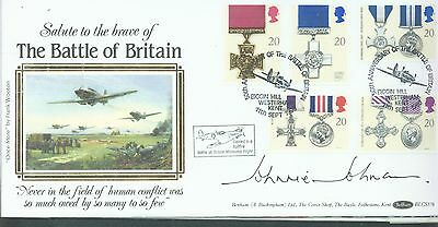 Great Britain 1990 Gallentry Wards FDC signed by Johnnie Johnson