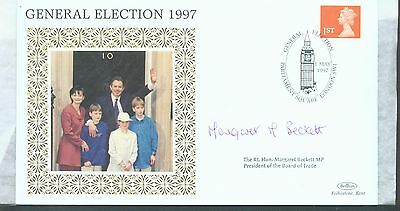 Great Britain1997 General Election FDC signed by Margaret Beckett MP