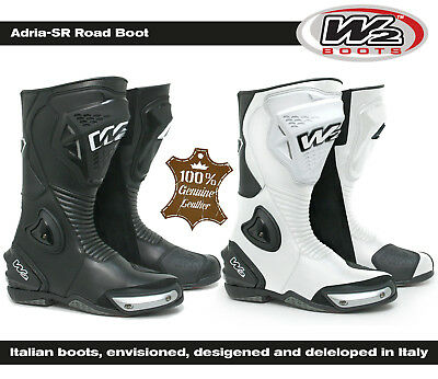 New Cheap W2 Adria-Sr Full Leather Race/Road/Track Motorcycle Motorbike Boots
