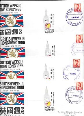HONG KONG 1966 EXHIBITION COVERS x 10