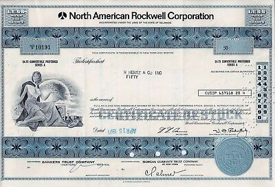 North American Rockwell Corporation, 1971 (50 Shares Preferred Series A)