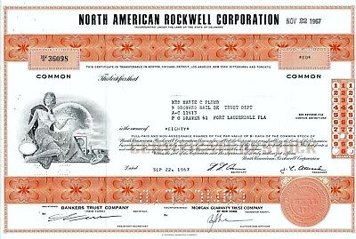 North American Rockwell Corporation, 1967 (80 Shares)