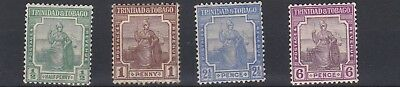 Trinidad & Tobago  1921 - 22  S G  206 - 212  Various Values  To 6D  Mh