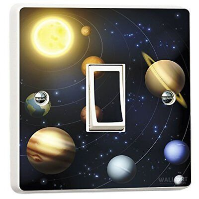 Planets Solar System Light Switch Sticker Vinyl Skin space earth sun moon