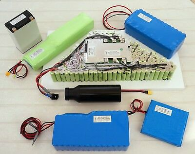 Electric bike Li-ion battery 24, 36, 48, 64, 72, 96V for OSET built by OTAMAT UK