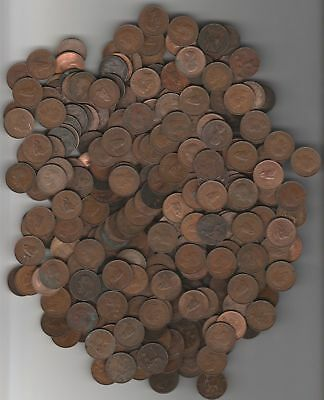 10 x Diff. Farthings. No Junk. At Least 3 Different Monarchs Free Post Aust Only