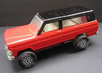 Vintage Tonka Jeep Cherokee Chief Truck Red Black