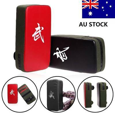 Kick Boxing Sparring Karate Strike Arm Pad Punch Bag Shield Training Target AU