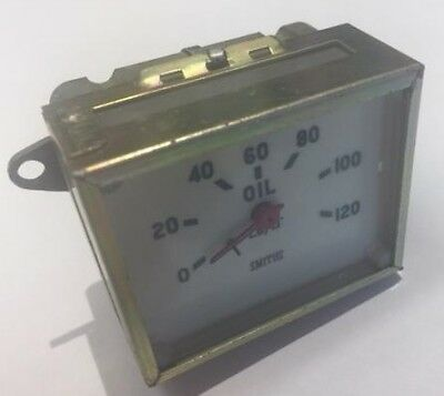 Smiths Oil Pressure Gauge Classic 0-120 Lbs/Sq Inch New Boxed (Ee362)