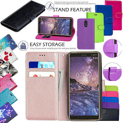 For Nokia 3.1 New 100% Genuine Leather Stand Flip Wallet Cover Phone Case