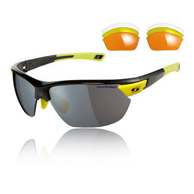 Sunwise Unisex Kennington Interchangeable 4 Sets Of Lenses - Black Yellow Sports