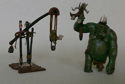 The Goblin King & Scribe from The Hobbit Escape from Goblin town Lotr painted