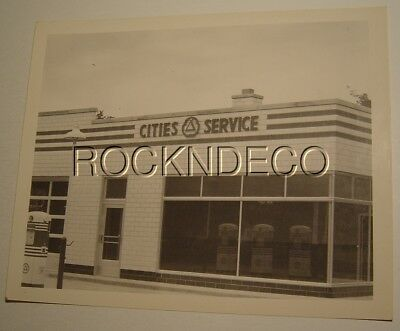 Circa 1950 Cities Service Gas Station Old 8x10 Photo Koolmotor Gas Pump