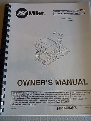 S-52E & S-54E OM-1526G 1991 Miller Welding Manual Wire Feeder for Model KB029908