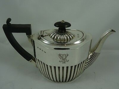 ATTRACTIVE,  solid silver `BACHELORS` TEA POT, 1899, 229gm