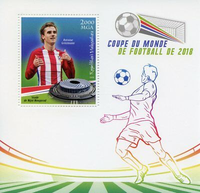 Madagascar 2018 MNH World Cup Football Russia Antoine Griezmann 1v S/S Stamps