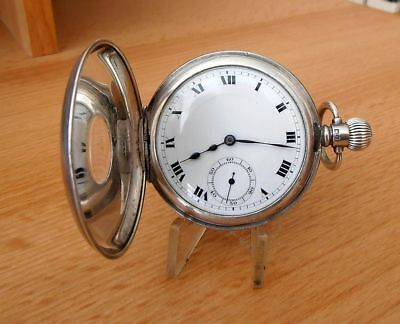 Solid Silver Rolex Movement Pocket Watch