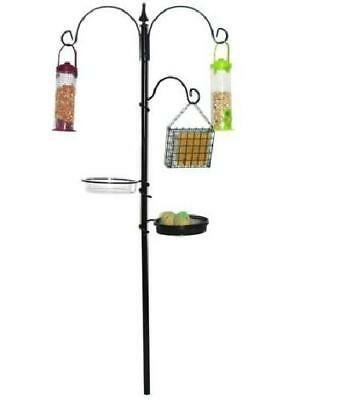 Kingfisher Black Metal Garden Wild Bird Care Traditional Feeding Station New