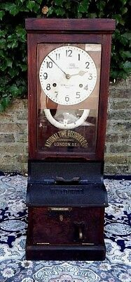 Antique National Time Recorder Clocking In Machine FOR A HOSPITAL NURSES CHARITY